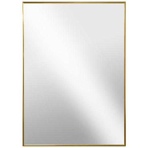 Gold Glossed Aluminum Wall Mirror - 6 different sizes