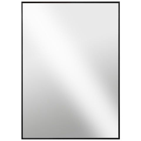 Black Glossed Aluminum Wall Mirror - 6 different sizes