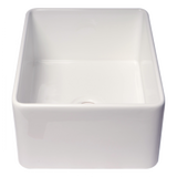 "24"" Fireclay Smooth White Single Bowl Farm / Farmhouse Kitchen Sink - BACK ORDER 9/15"
