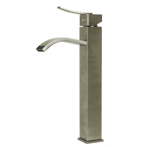 Single Lever Tall Square Bathroom Faucet Polished/Brushed MSRP: $310.00-410.00