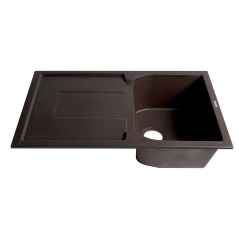 Single Bowl Granite Composite Kitchen Sink with Drainboard