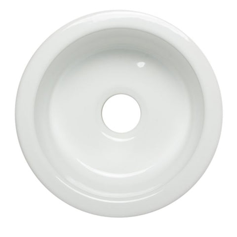 "17"" Round Single Bowl Fireclay Prep Sink"