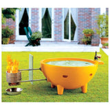 FireHotTub The Round Fire Burning Portable Outdoor Hot Bath Tub