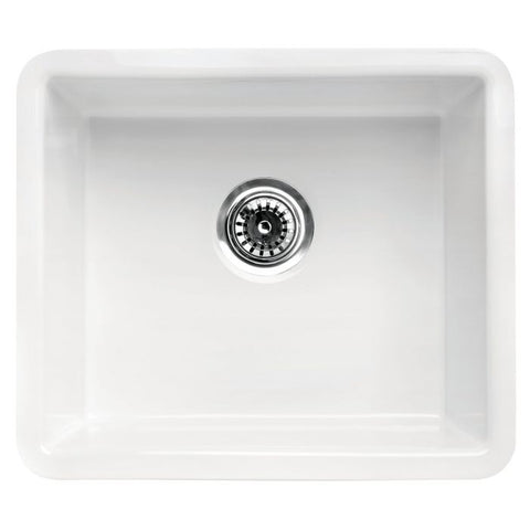 White Fireclay Undermount Kitchen Sink