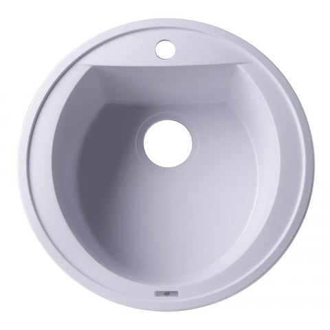 "AB2020DI 20"" Drop-In Round Granite Composite Kitchen Prep Sink"