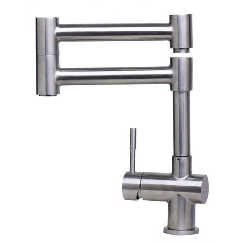 Modern Solid Stainless Steel Retractable Kitchen Faucet MSRP: $550.00-650.00