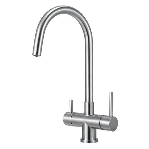 Solid Stainless Steel Kitchen Faucet & Drinking Water Dispenser Combo