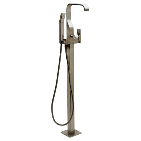 Floor Mount Tub Filler with Shower Head Polished/Brushed MSRP: $1,260.00-1,360.00