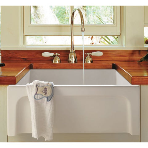 Arched Apron Thick Wall Fireclay Farm Sink MSRP: $900.00-1000.00