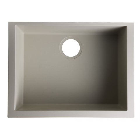 "24"" Undermount Single Granite Composite Kitchen Sink"