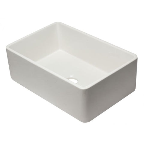 "30"" Reversible Single Fireclay Farmhouse Kitchen Sink"