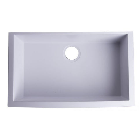 "30"" Undermount Single Granite Composite Kitchen Sink"