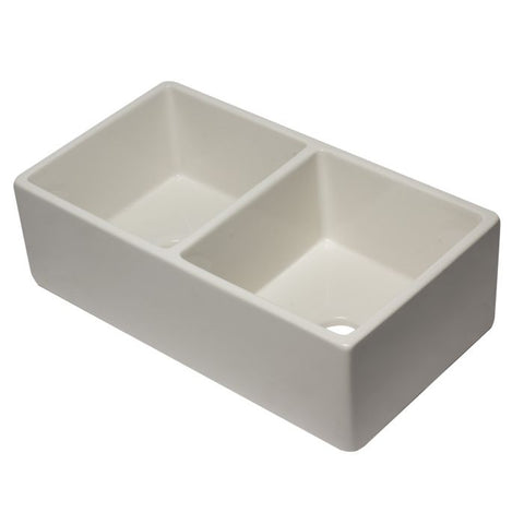 "33"" Reversible Double Fireclay Farm Kitchen Sink"