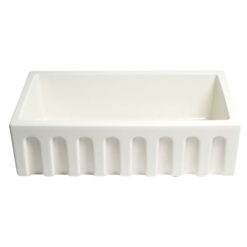 Reversible Fluted / Smooth Fireclay Farm Sink