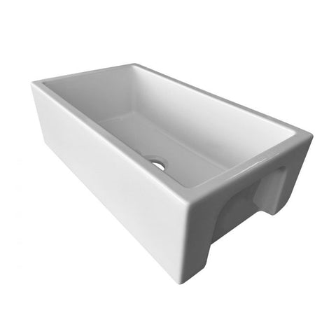 AB3318HS Reversible Fluted / Smooth Fireclay Farm Sink