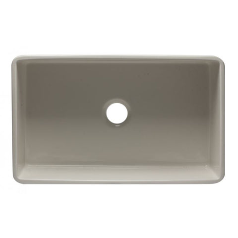 "33"" Reversible Single Fireclay Farmhouse Kitchen Sink"