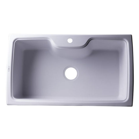 "35"" Drop-In Single Bowl Granite Composite Kitchen Sink"