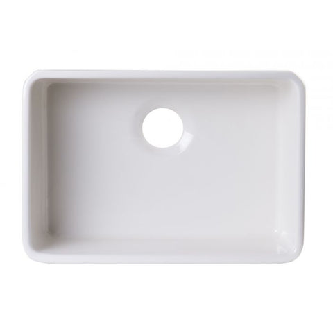 24 inch Single Bowl Fireclay Undermount Kitchen Sink