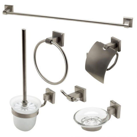 6 Piece Matching Bathroom Accessory Set