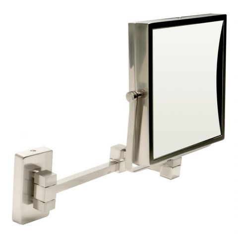 "ABM8WS Wall Mount Square 8"" Frameless 5x Maginfy Cosmetic Mirror"