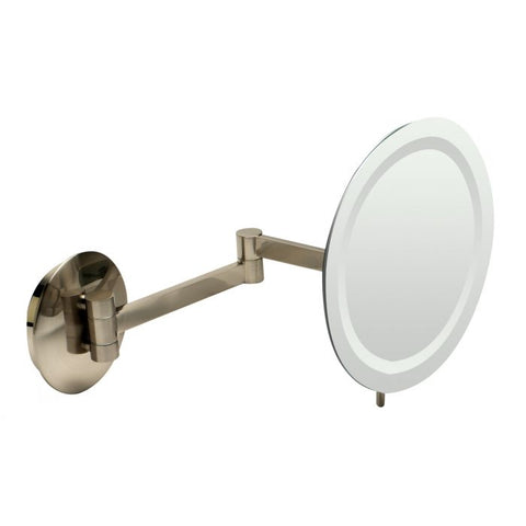 "ABM9WLED Wall Mount Round 9"" 5x Magnifying Mirror with Light"