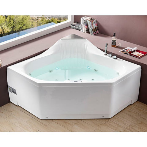 ounded Corner Acrylic Whirlpool Bathtub For Two