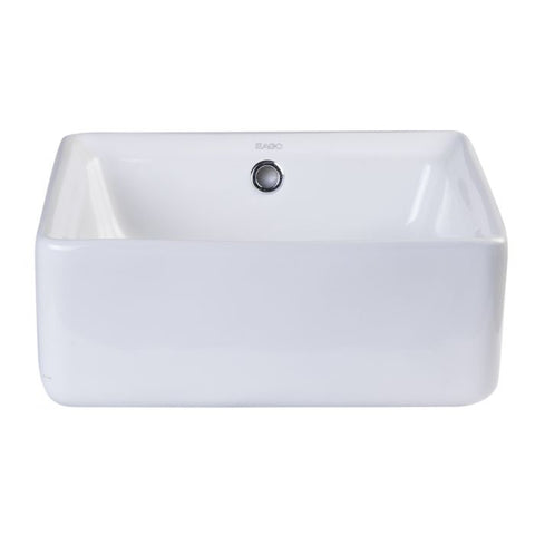 Modern Square Porcelain Bathroom Sink with Overflow