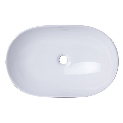 Oval Porcelain Bathroom Sink Basin without Overflow