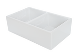 DISCOUNTED LAST UNITS!!! Double Bowl Apron Front Kitchen Sink Fireclay Farmhouse / Farm Design 33 inch White Smooth Front
