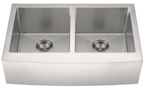 MSI 33 inch Farmhouse Apron Front Kitchen Sink Stainless Steel Double Bowl