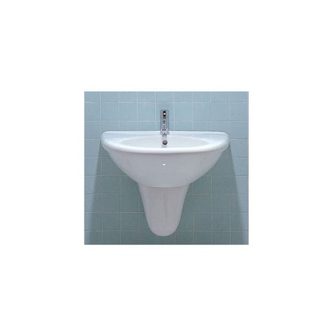 White Porcelain U-Shaped Wall Mount Bathroom Basin