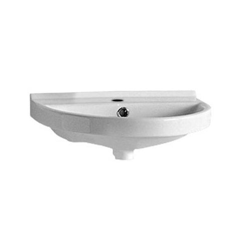 White Porcelain U-Shaped Wall Mount Bathroom Washbasin Sink