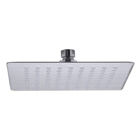 Thin Square Rainfall Shower Head In Solid Stainless Steel