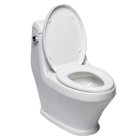Single Flush One Piece Ceramic Toilet   MSRP: $890.00