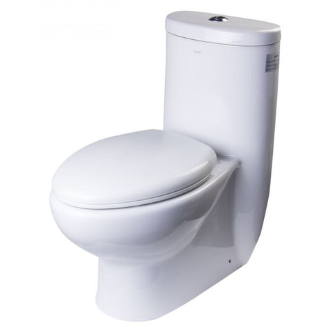One Piece Dual Flush High Efficiency Low Flush White Toilet