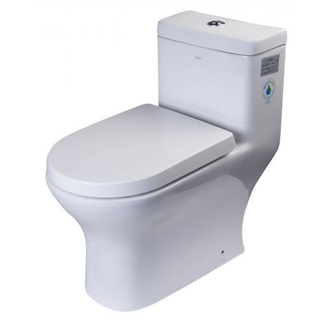 One Piece Dual High Efficiency Low Flush Eco-Friendly Toilet