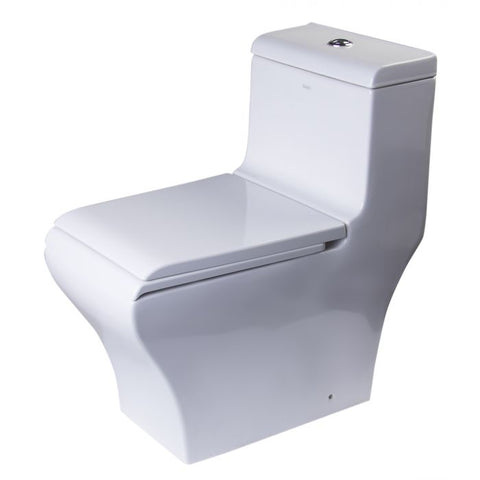 White Dual Flush High Efficiency Low Flush Eco-Friendly Toilet