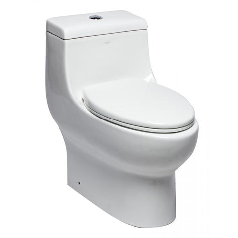 Dual Flush One Piece Elongated Ceramic Toilet   MSRP: $790.00