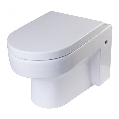 Wall Mount Dual Flush Modern White Ceramic Toilet Bowl