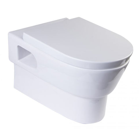 Modern Wall Mounted Dual Flush White Ceramic Toilet Bowl