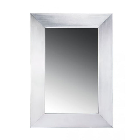 "15"" Noah Stainless Steel Framed Mirror  MSRP: $375.00-$385.00"
