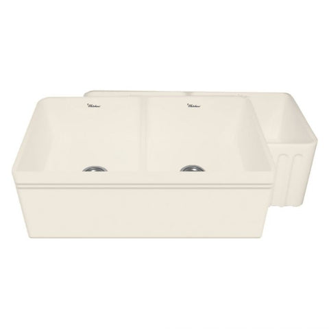 "33"" Double Bowl Reversible Fireclay Kitchen Sink"
