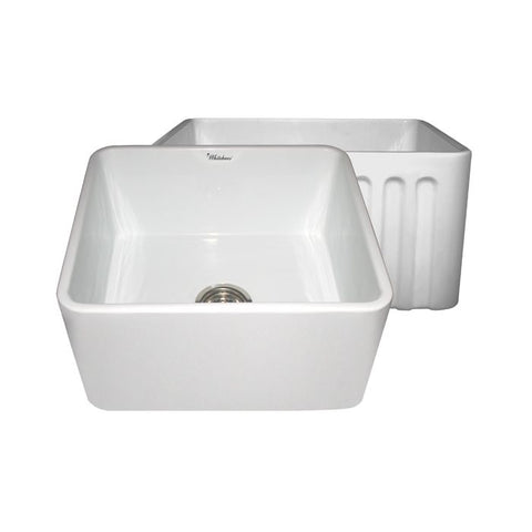"20"" Fluted & Smooth Reversible Fireclay Farm Sink"