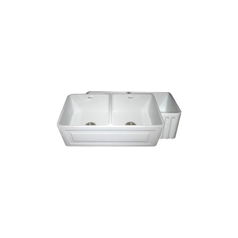 "33"" Raised Panel or Fluted Reversible Fireclay Farm Sink"