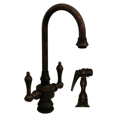 Antique Style Kitchen Prep Faucet & Side Spray