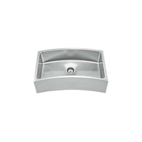 "32"" Stainless Steel Single Curve Apron Kitchen Sink"