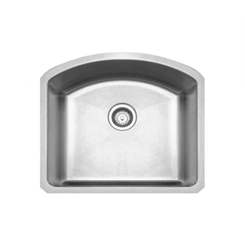 "23"" Stainless Steel Single Bowl Kitchen Undermount Sink"