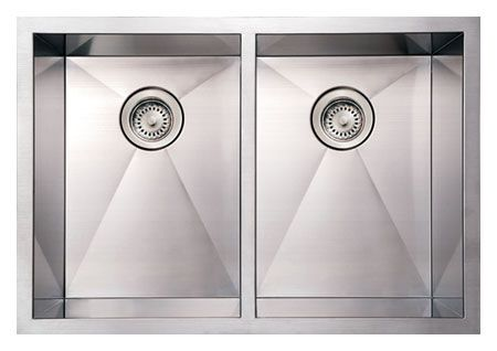 "29"" Stainless Steel Double Bowl Undermount Sink"