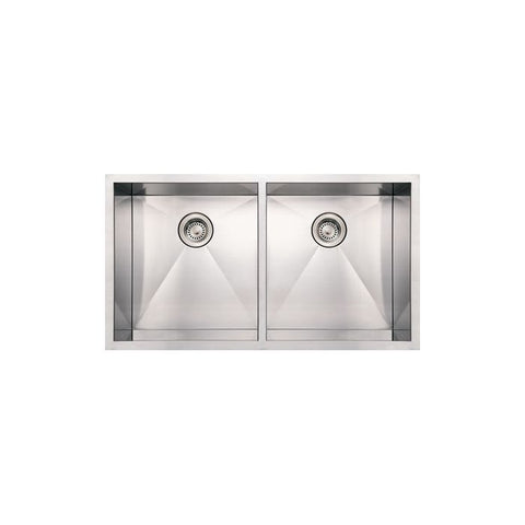 "37"" Stainless Steel Double Bowl Undermount Sink"