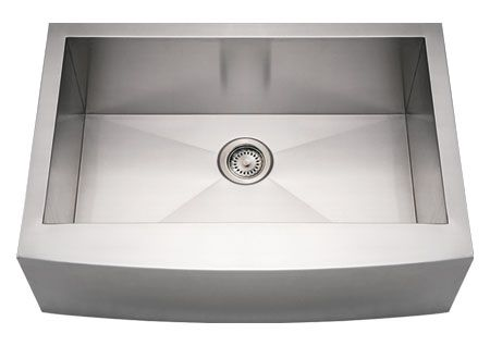 "30"" Stainless Steel Arched Apron Front Kitchen Sink"